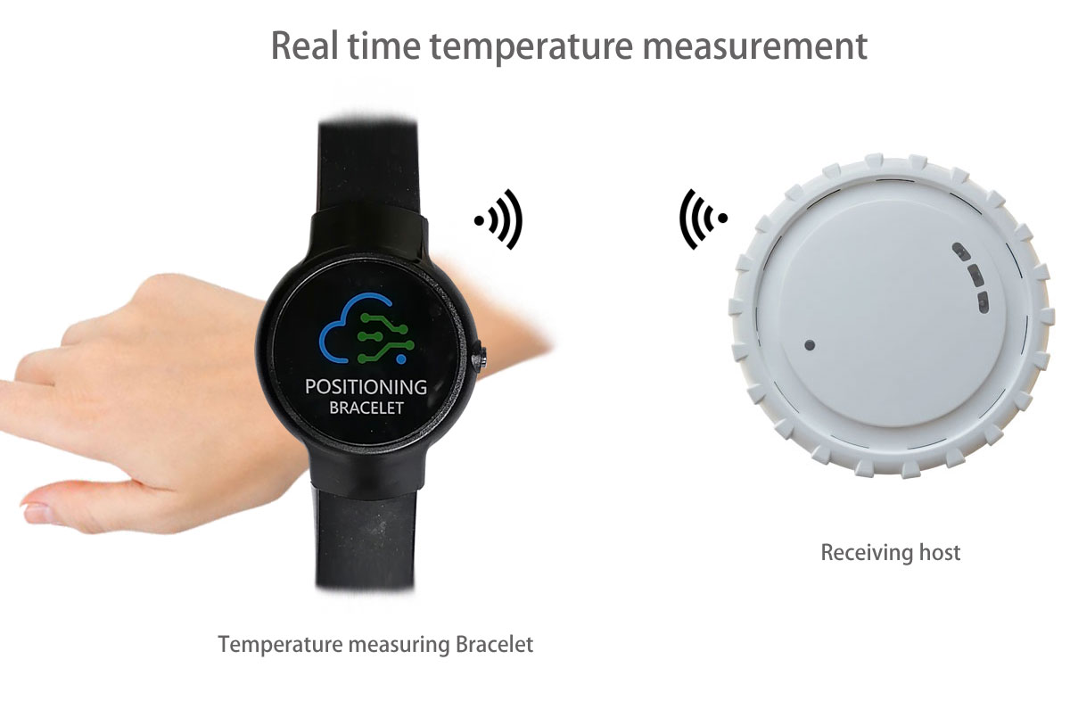 Automatic temperature measuring Bracelet