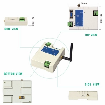 RS232/RS485 Wireless RF Modem Controller System