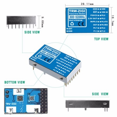 TRW-ZIGI 800~928MHz Tranceiver Module