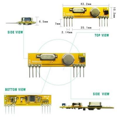 RWS-434N-LV 高感度OOK ASK 高頻接收模組