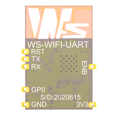 WS-WIFI-UART1 2.4GHz WiFi 模組